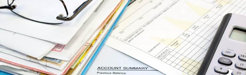 bookkeeping on desktop